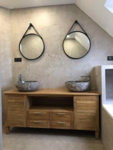 Salle de bain en béton ciré Nord Pas de Calais