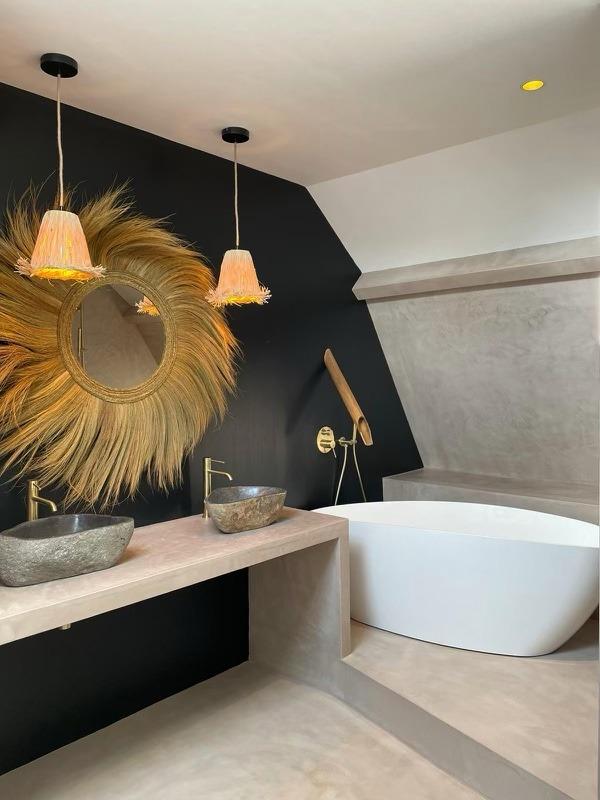 Salle de bain en béton ciré Mérignies